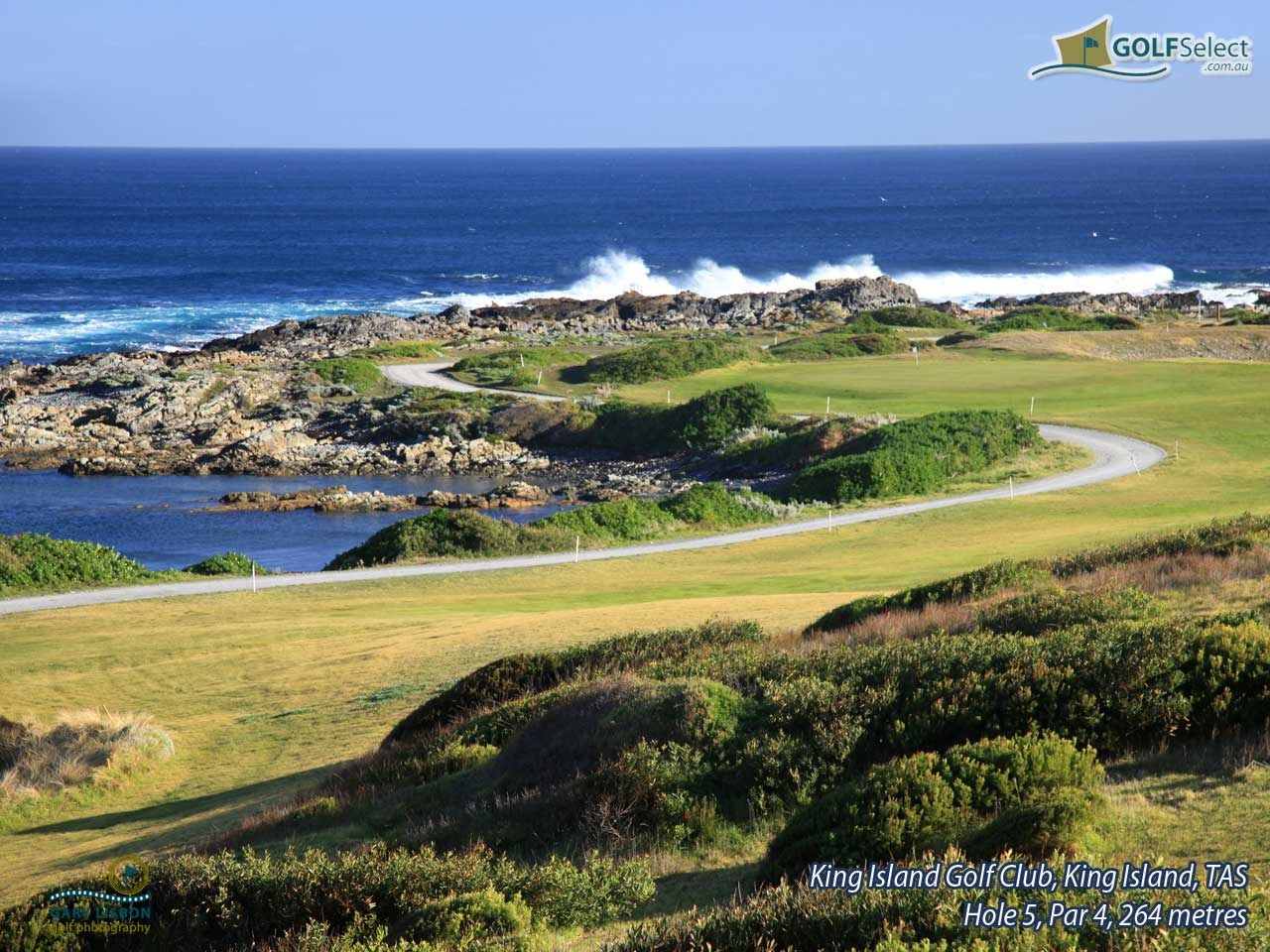 King Island Golf Club Hole 5, Par 4, 268 metres