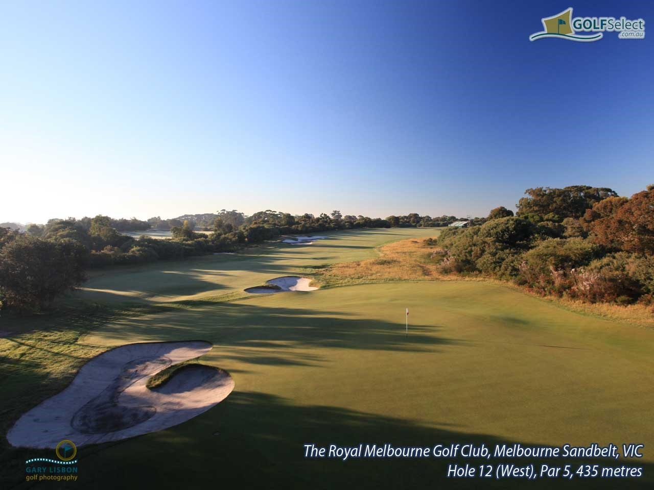 The Royal Melbourne Golf Club (West Course) Hole 12 (West), Par 5, 435 metres