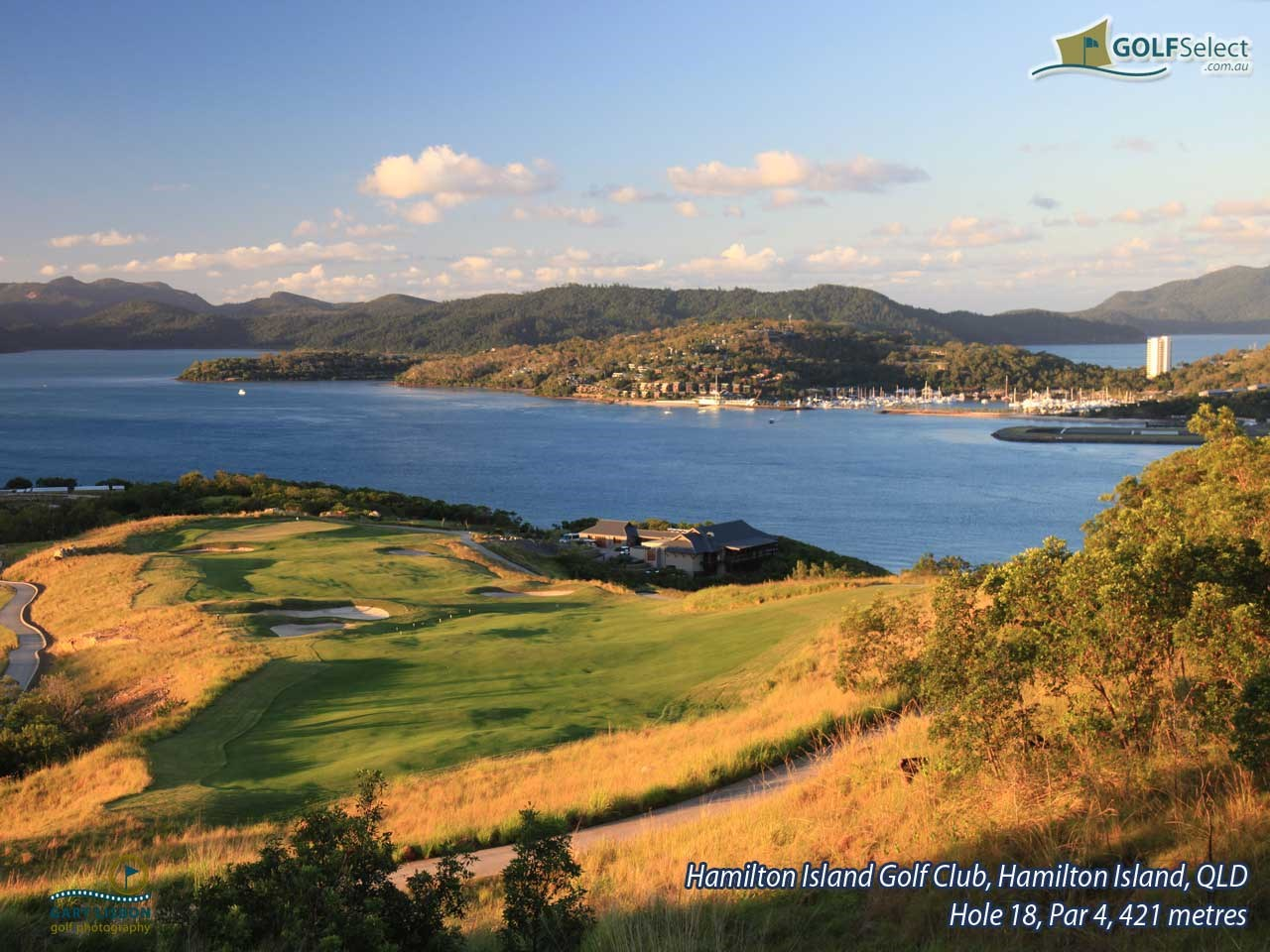 Hamilton Island Golf Club Hole 18, Par 4, 421 metres
