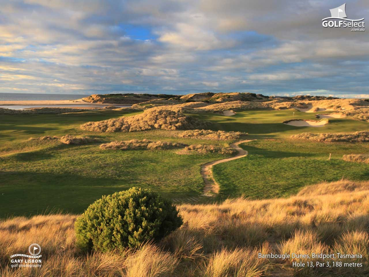 Barnbougle Dunes Golf Links Hole 13, Par 3, 188 metres