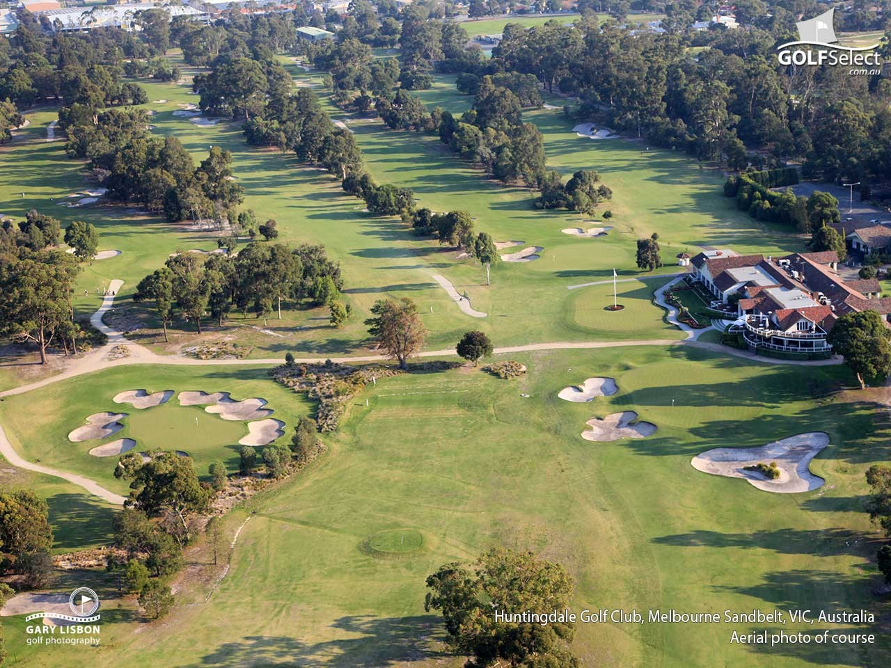 Huntingdale Golf Club Arial View of Huntingdale