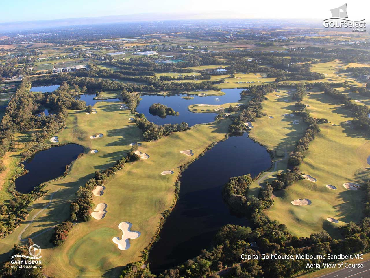 Capital Golf Club Aerial view of course