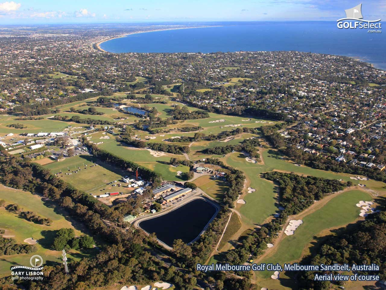 The Royal Melbourne Golf Club (West Course) Aerial View of Course