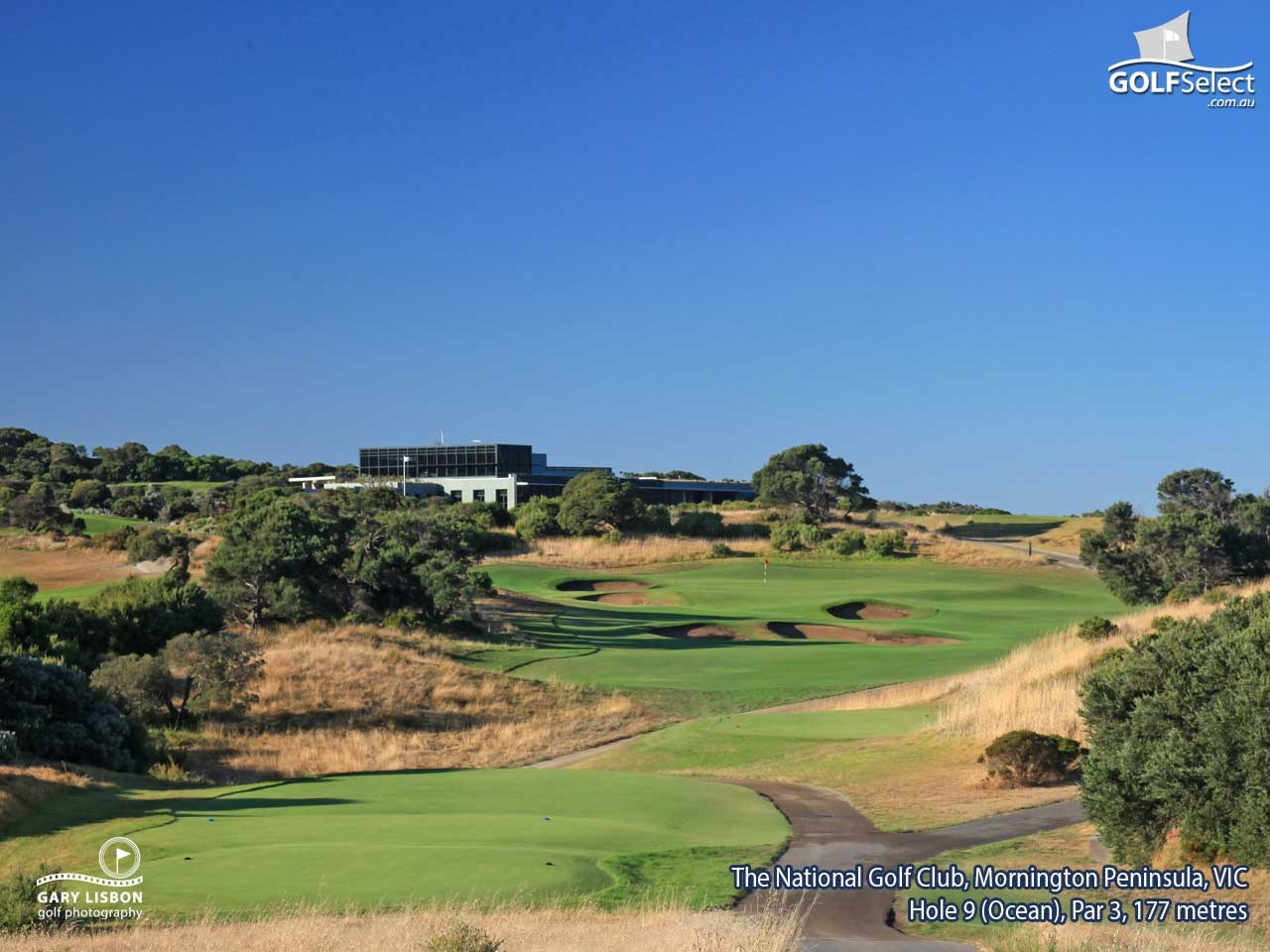 The National Golf Club (Gunnamatta Course) Hole 9, Par 3, 177 metres