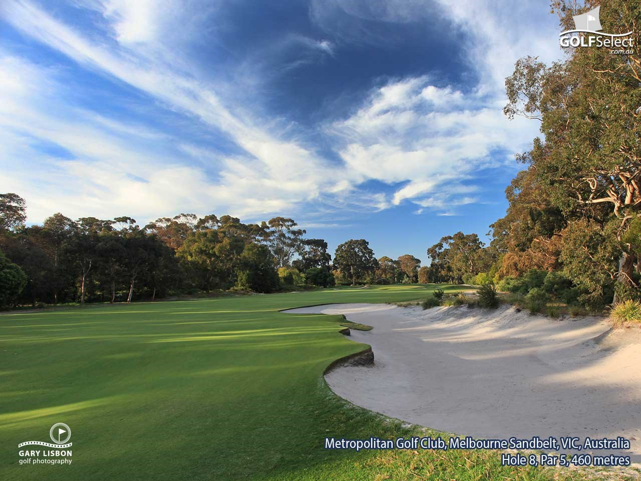 The Metropolitan Golf Club Hole 8, Par 5, 465 metres