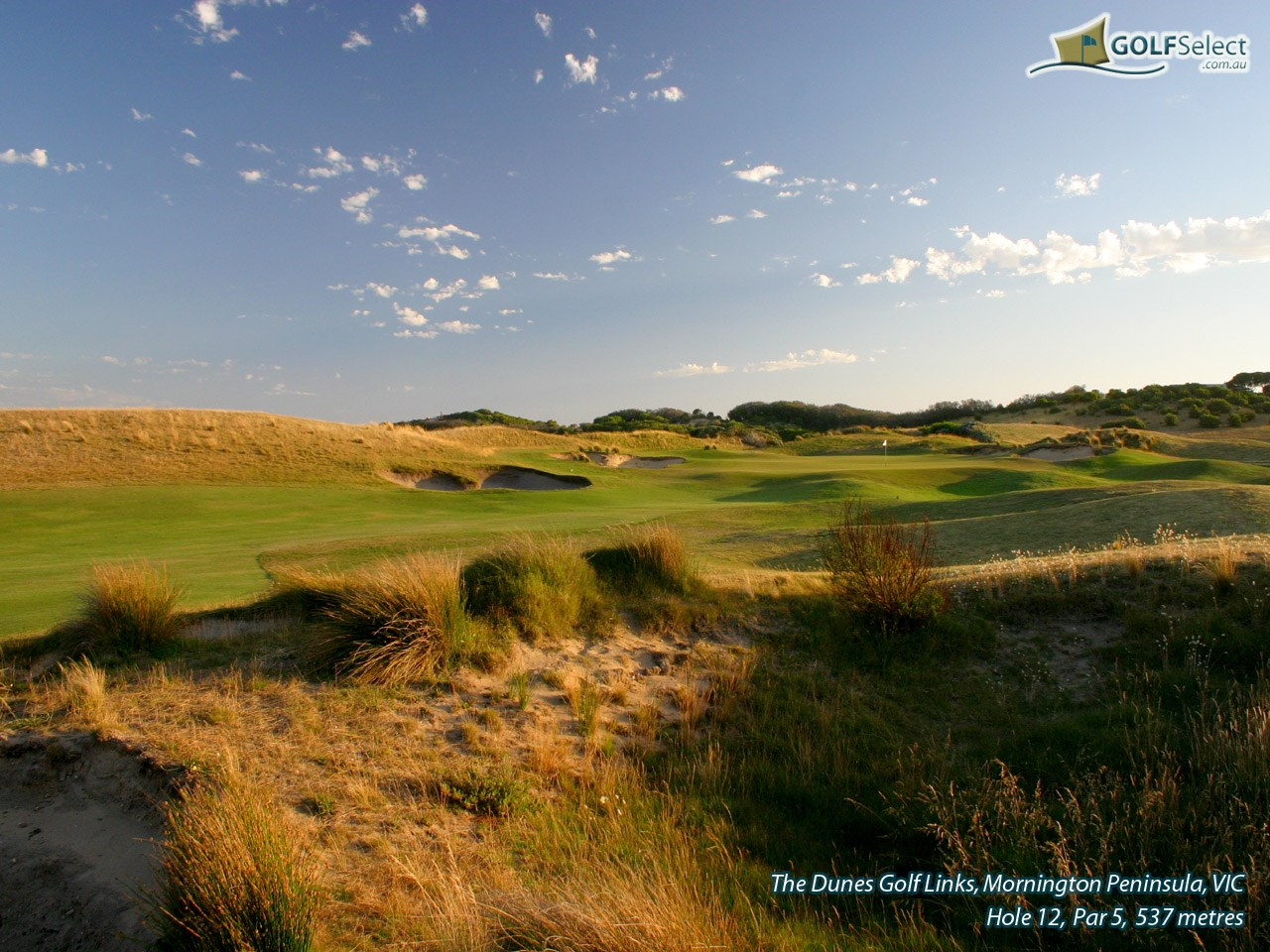 The Dunes Golf Links Hole 12, Par 5, 537 metres