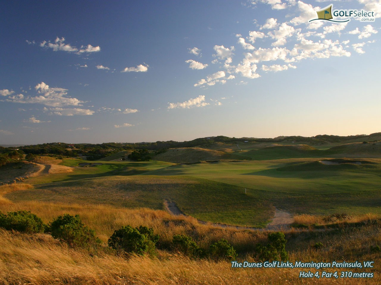 The Dunes Golf Links Hole 4, Par 4, 310 metres