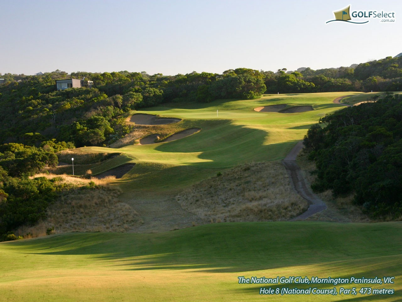 The National Golf Club (Old Course) Hole 8, Par 5, 473 metres