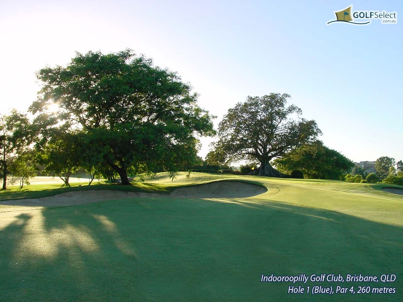 Indooroopilly Golf Club (East Course) Hole 1 (Blue), Par 4, 260 metres