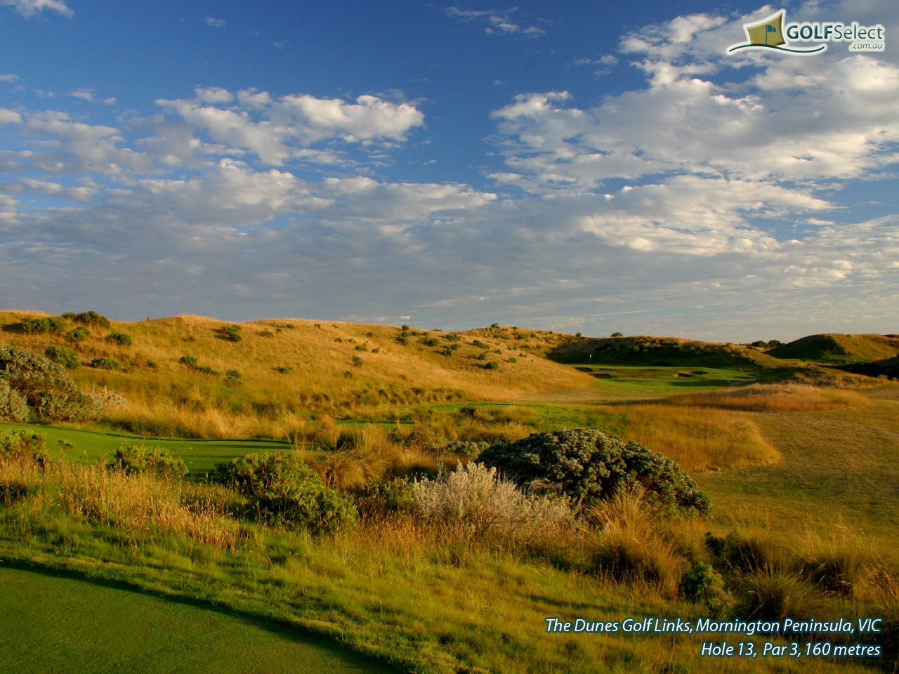 The Dunes Golf Links Hole 13, Par 3, 160 metres