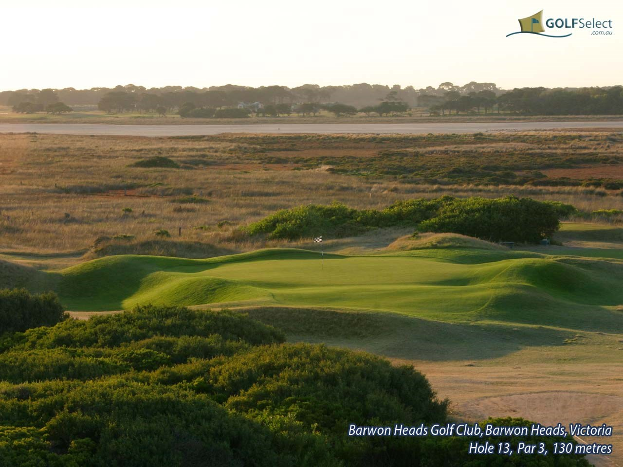 Barwon Heads Golf Club Hole 13, Par 3, 130 metres