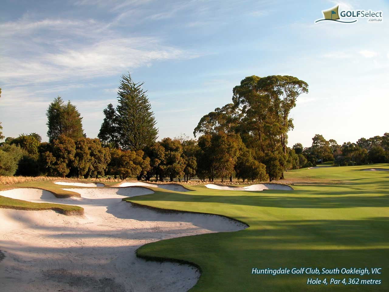 Huntingdale Golf Club Hole 4, Par 4, 362 metres