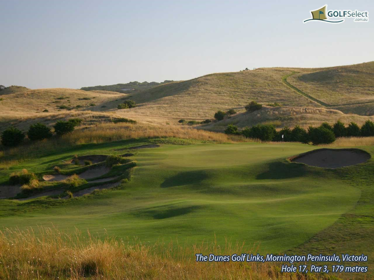The Dunes Golf Links Hole 17, Par 3, 179 metres