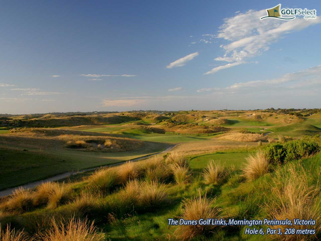 The Dunes Golf Links Hole 6, Par 3, 208 metres