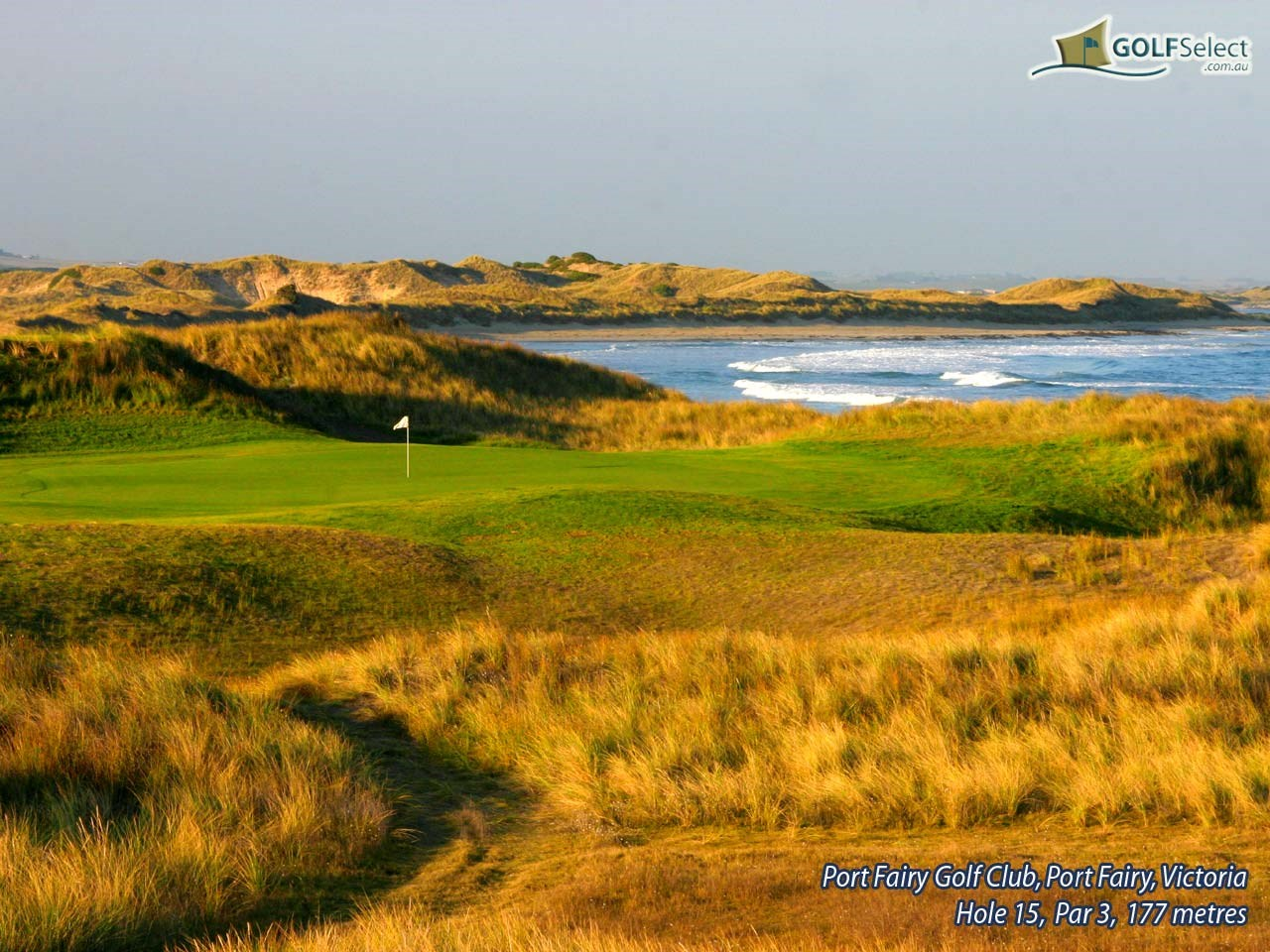 Port Fairy Golf Club Hole 15, Par 3, 177 metres