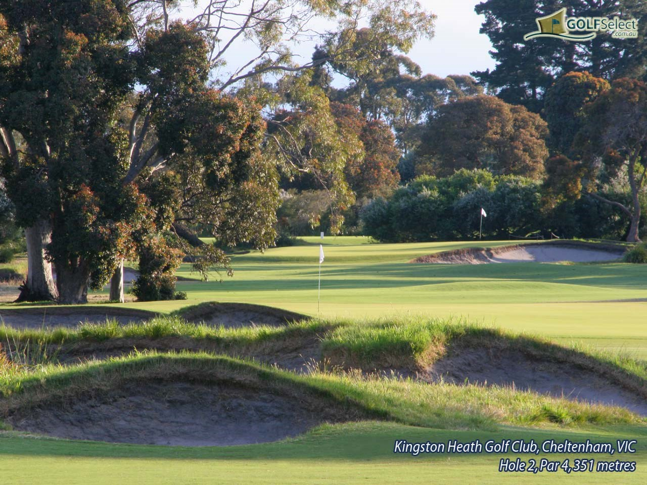 Kingston Heath Golf Club Hole 2, Par 4, 351 metres