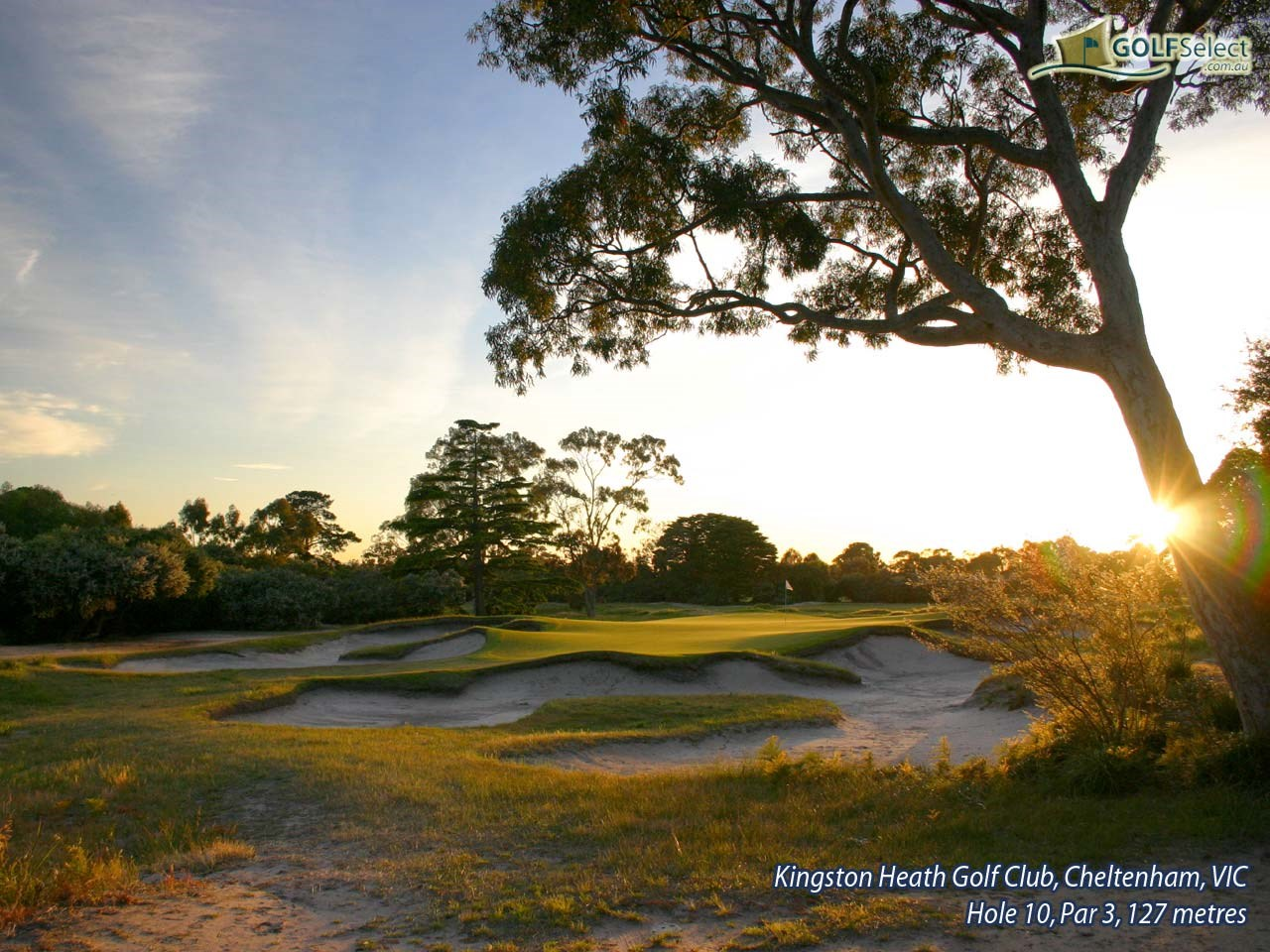 Kingston Heath Golf Club Hole 10, Par 3, 127 metres