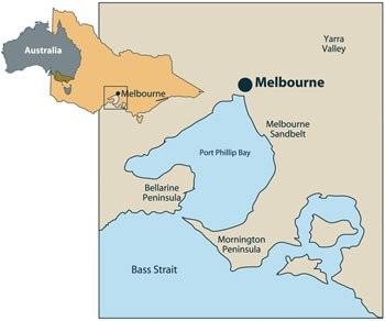 Melbourne Sandbelt Location Map