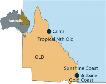 Queensland Location Map