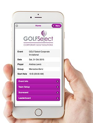 GolfDayPro Mobile Scoring Sample
