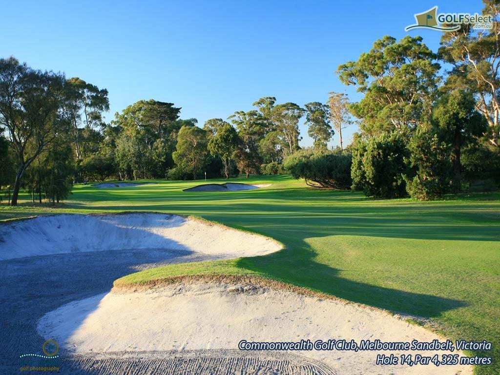 Golf Wallpaper – Commonwealth Golf Club, Hole 14, Par 4,