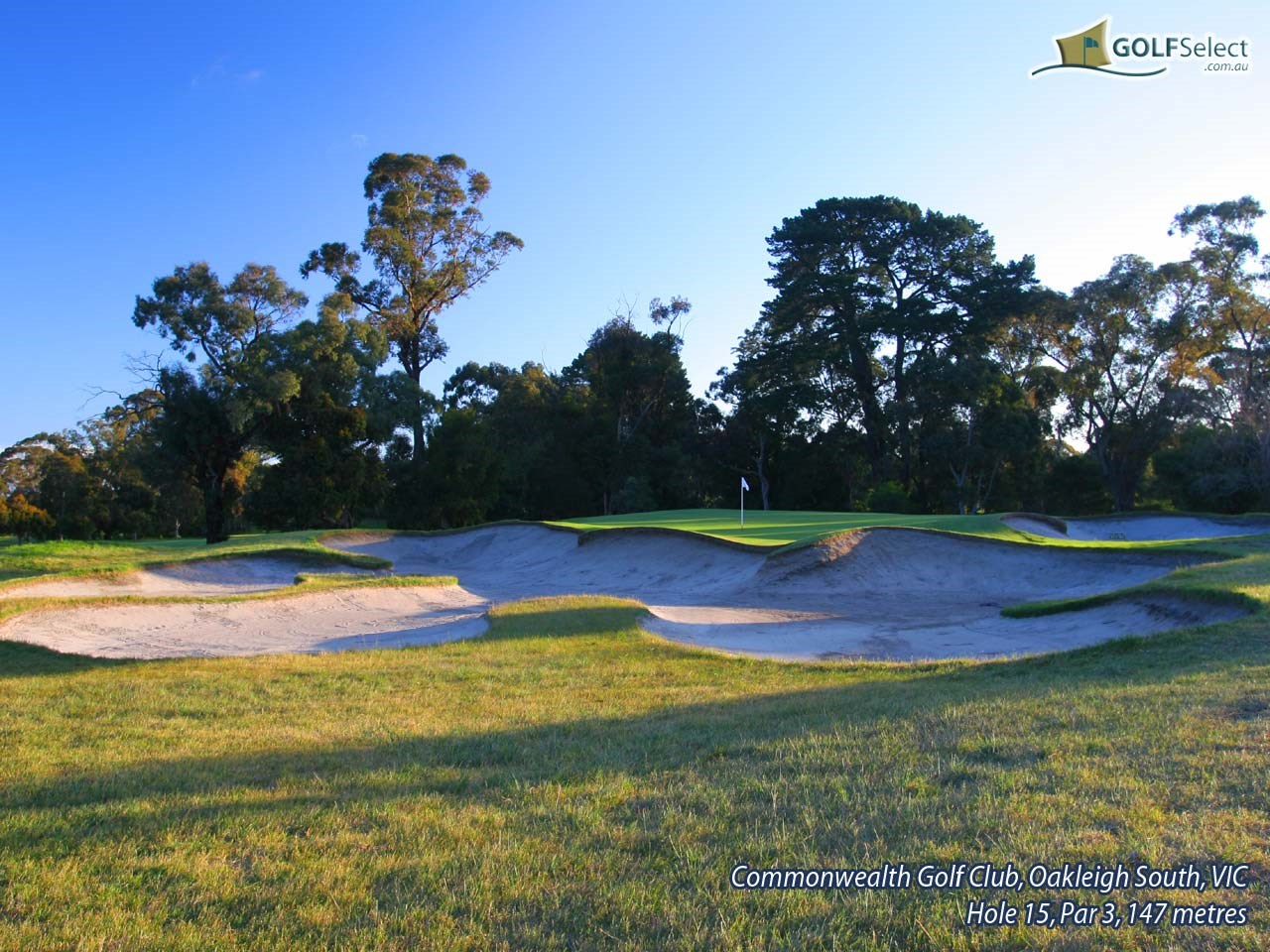 Commonwealth Golf Club Hole 15, Par 3, 147 metres