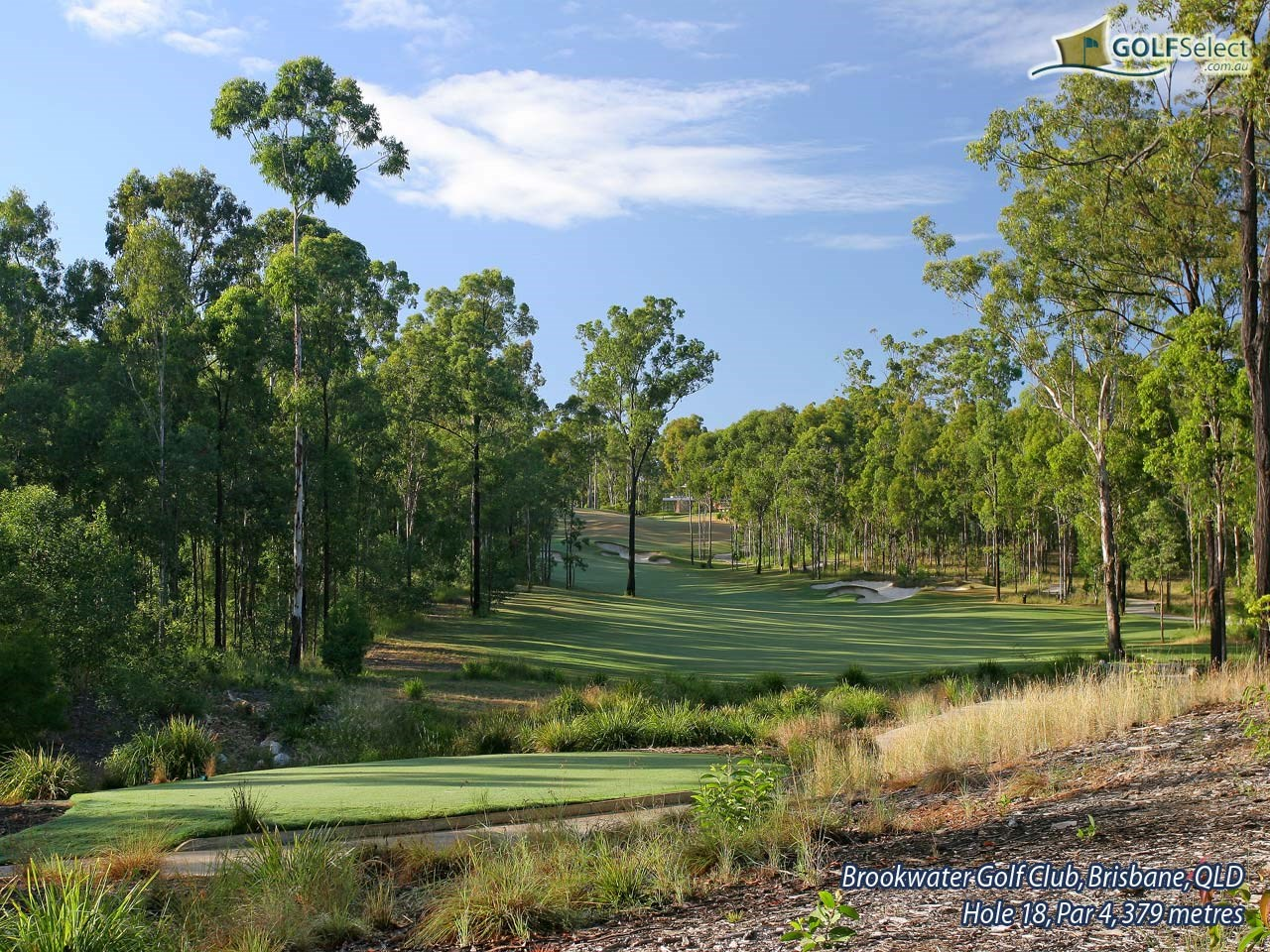Brookwater Golf & Country Club Hole 18, Par 4, 378 metres