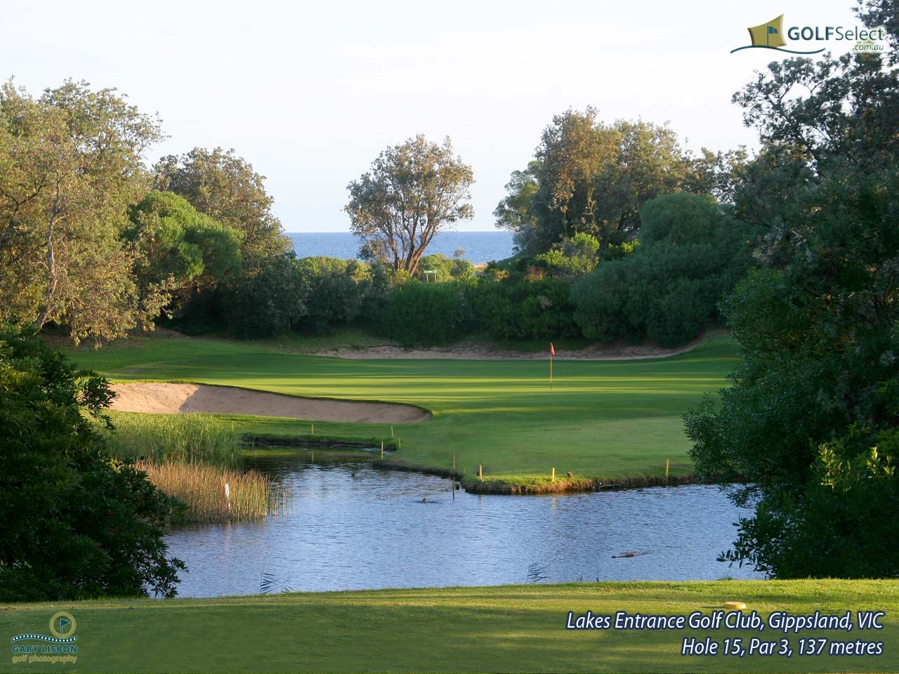Lakes Entrance Golf Club Hole 15, Par 3, 137 metres