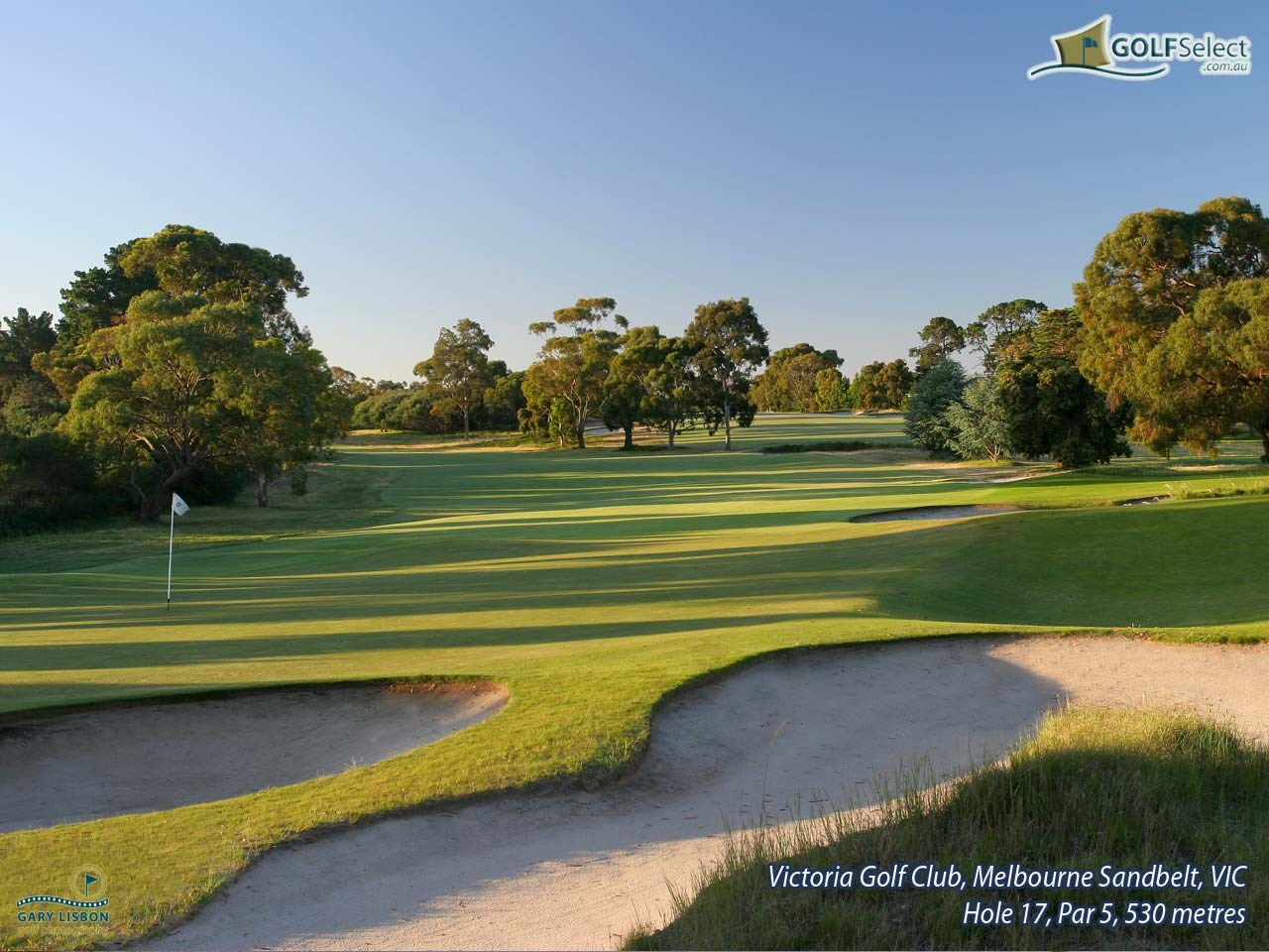 Victoria Golf Club Hole 17, Par 5, 530 metres