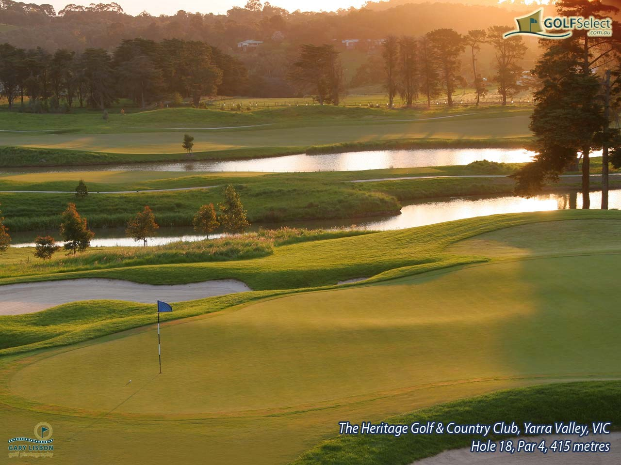 The Heritage Golf and Country Club (St.John Course) Hole 18, Par 4, 415 metres