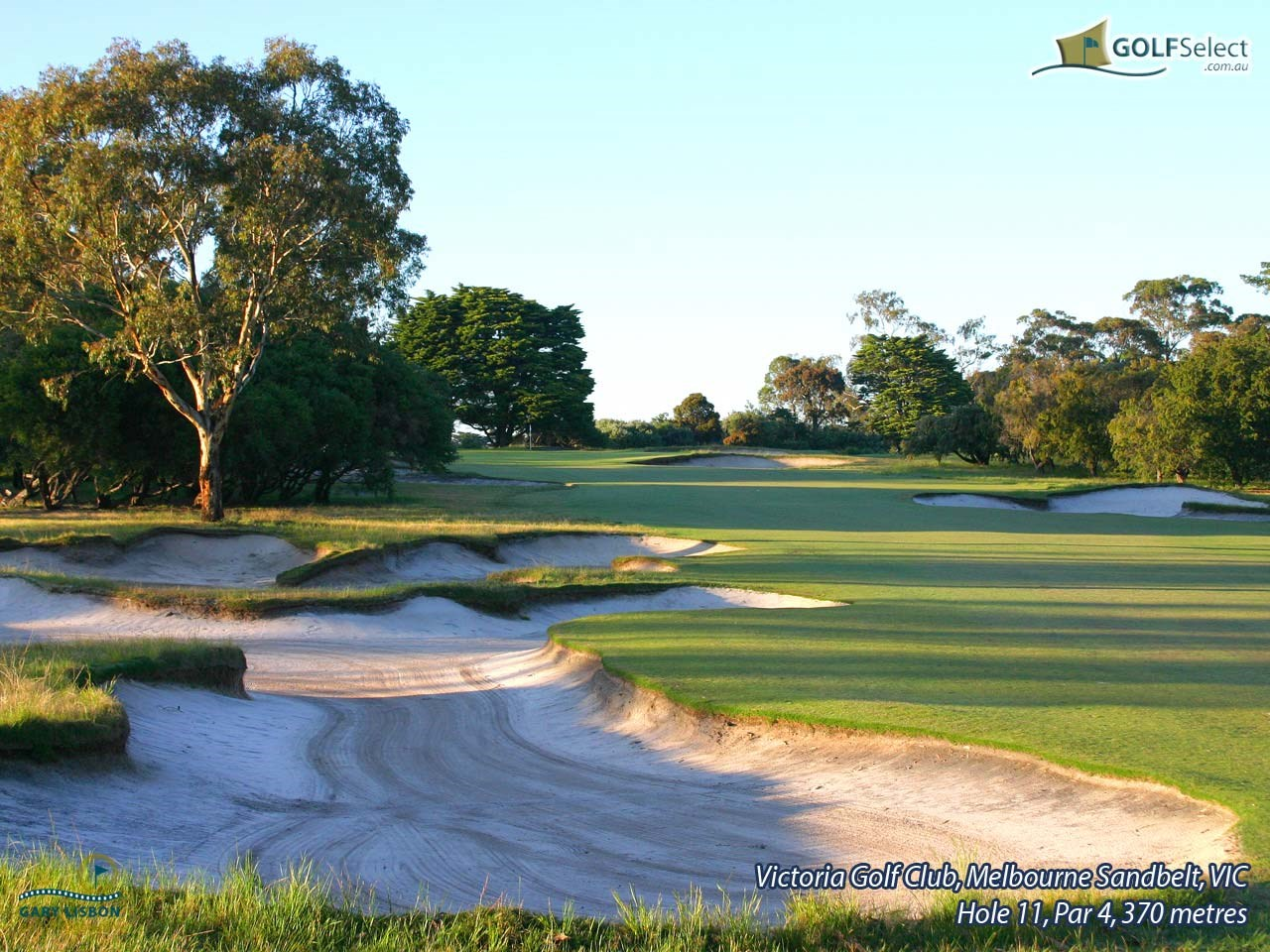 Victoria Golf Club Hole 11, Par 4, 370 metres