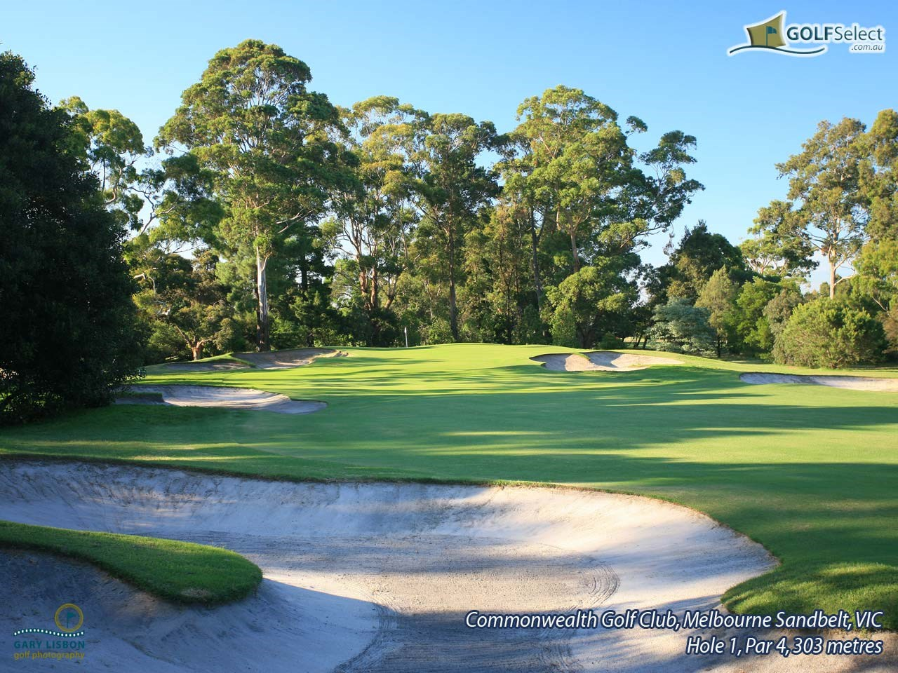 Commonwealth Golf Club Hole 1, Par 4, 303 metres