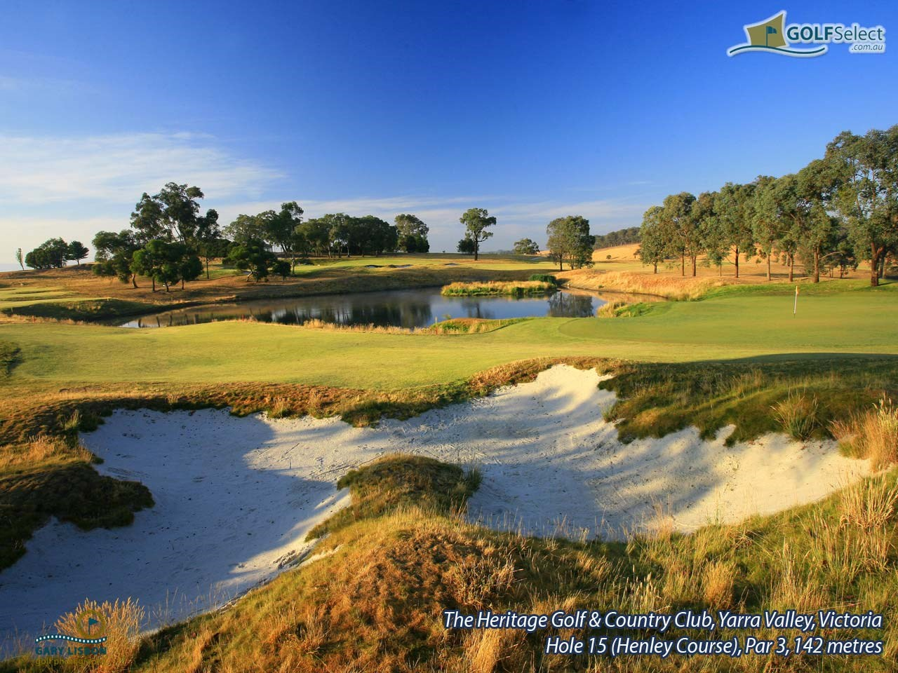 The Heritage Golf and Country Club (Henley Course) Hole 15 (Henley), Par 3, 142 metres
