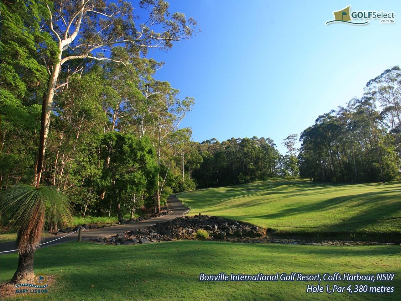 golfselect golf wallpaper bonville golf resort hole 1 par 4 380 metres. Black Bedroom Furniture Sets. Home Design Ideas
