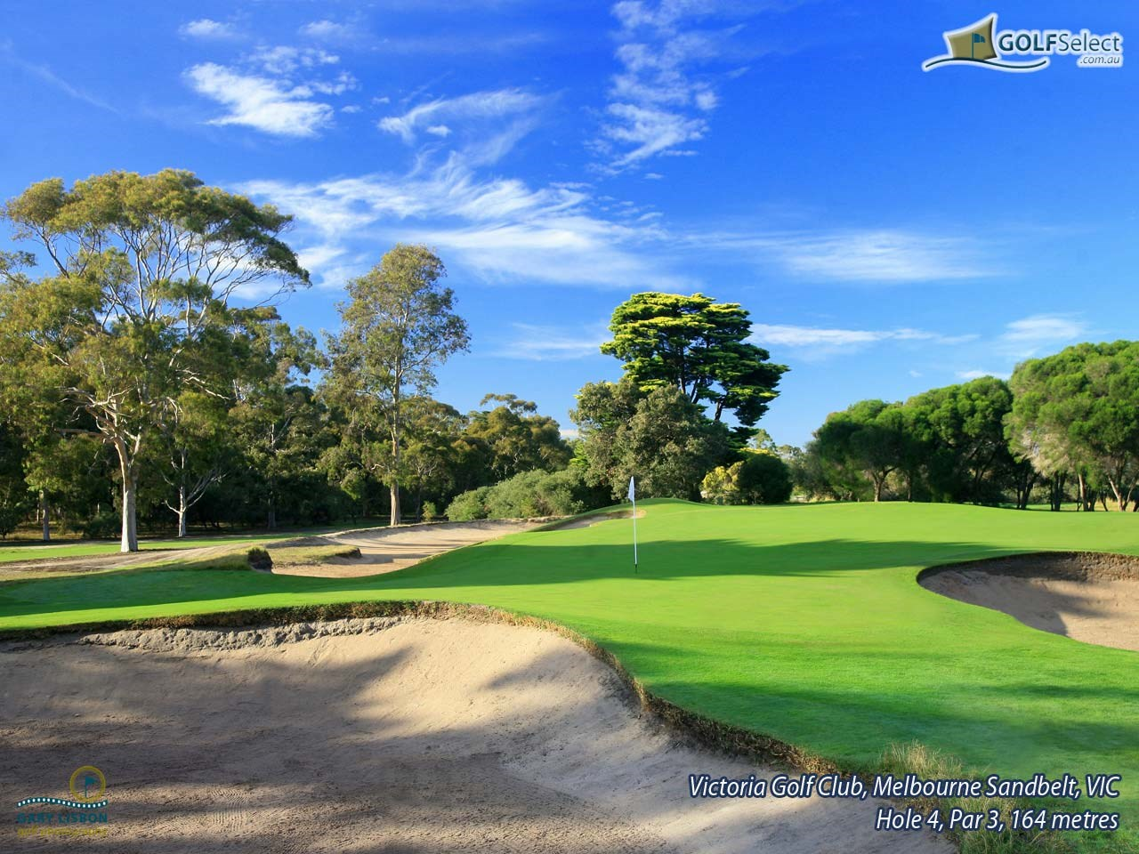 Victoria Golf Club Hole 4, Par 3, 165 metres