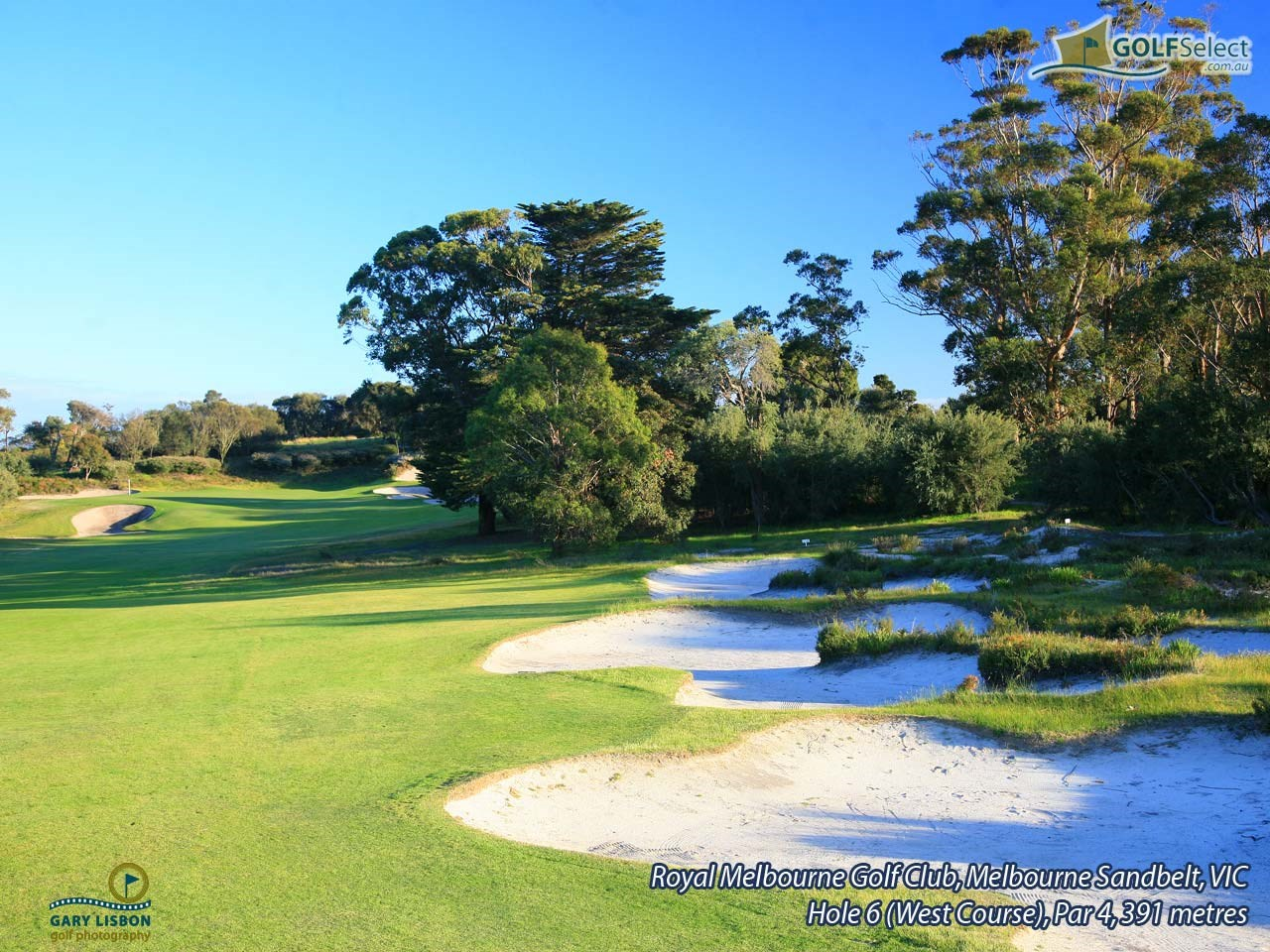 The Royal Melbourne GC (West Course) Hole 6, Par 4, 391 metres