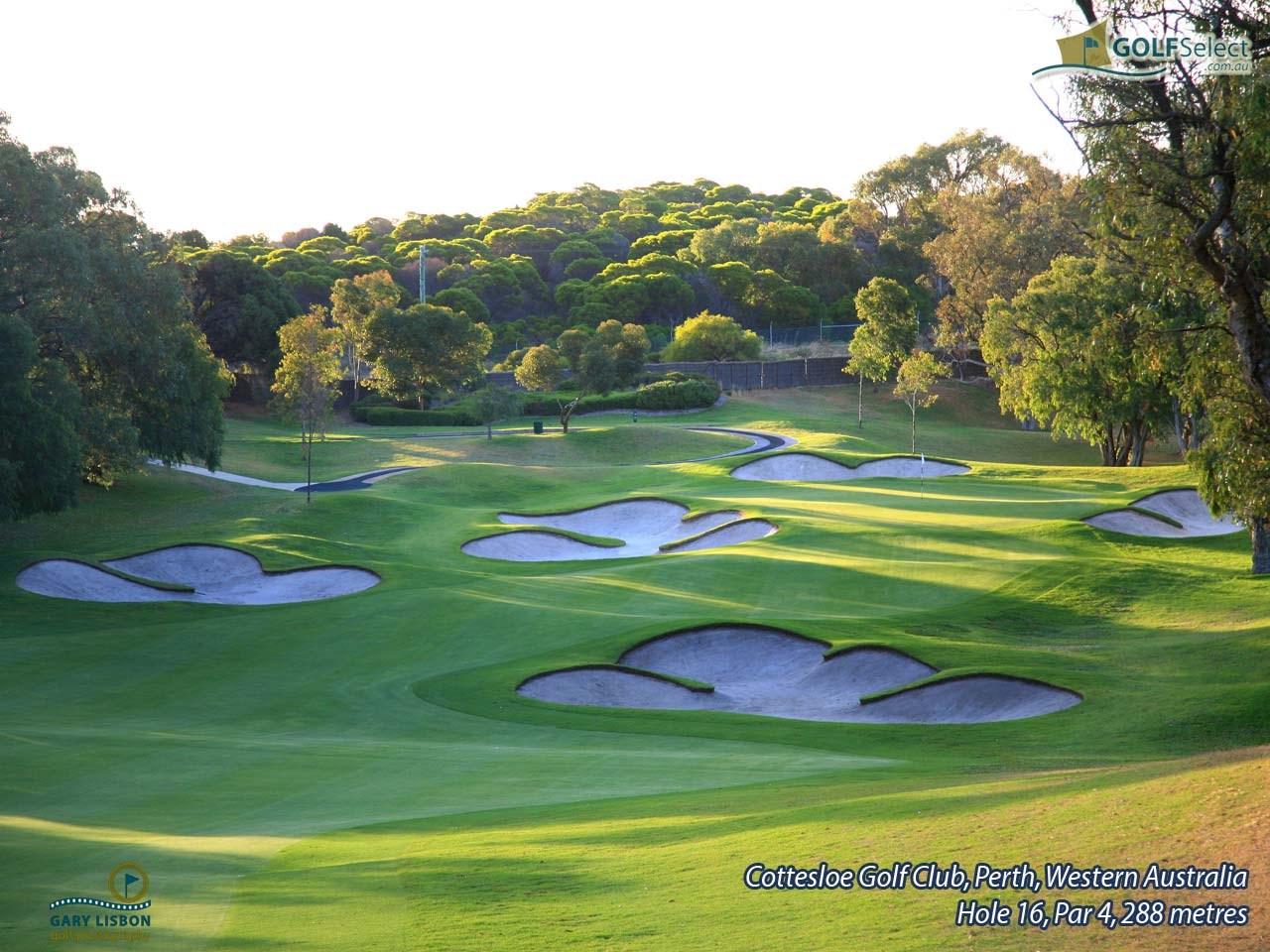 golfselect golf wallpaper cottesloe golf club hole 16 par 4 288 metres. Black Bedroom Furniture Sets. Home Design Ideas