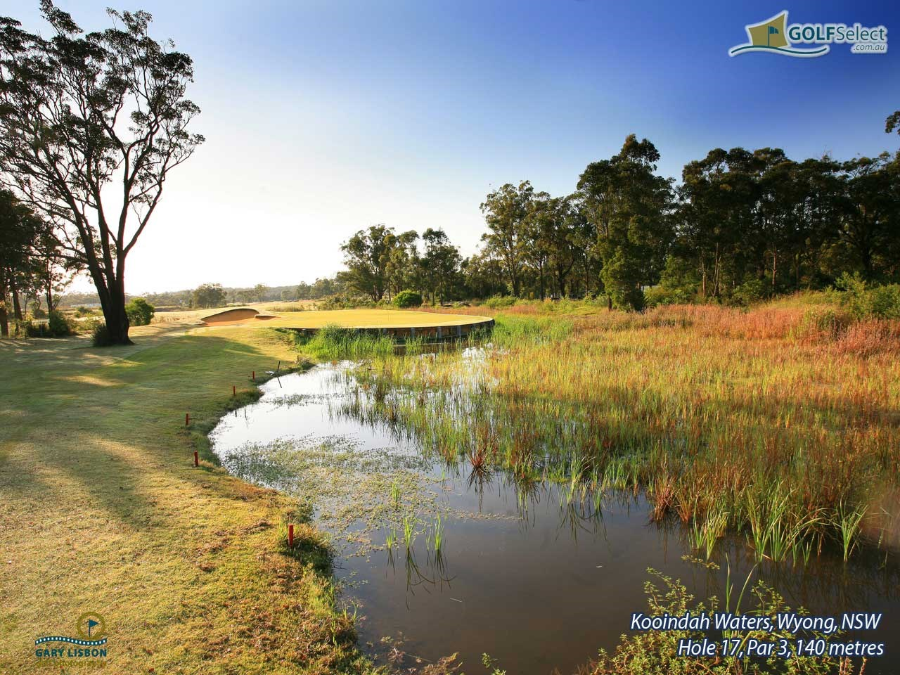 Kooindah Waters Hole 17, Par 3, 140 metres