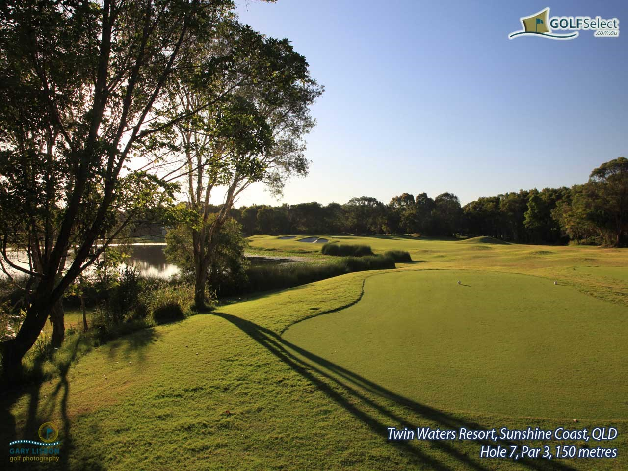 Twin Waters Golf Club Hole 7, Par 3, 150 metres
