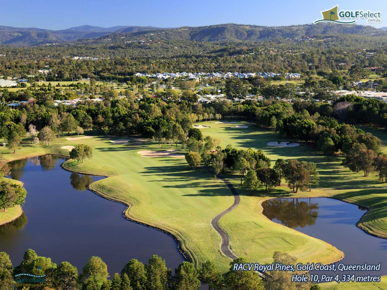 RACV Royal Pines Resort (Gold Course) Hole 10, Par 4, 338 metres