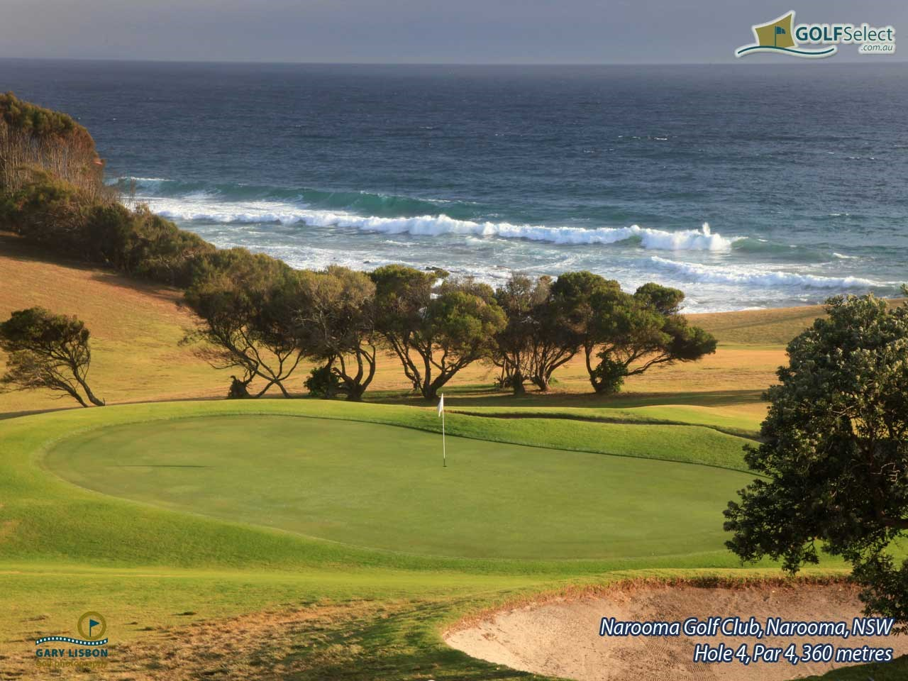 Narooma Golf Club Hole 4, Par 4, 360 metres
