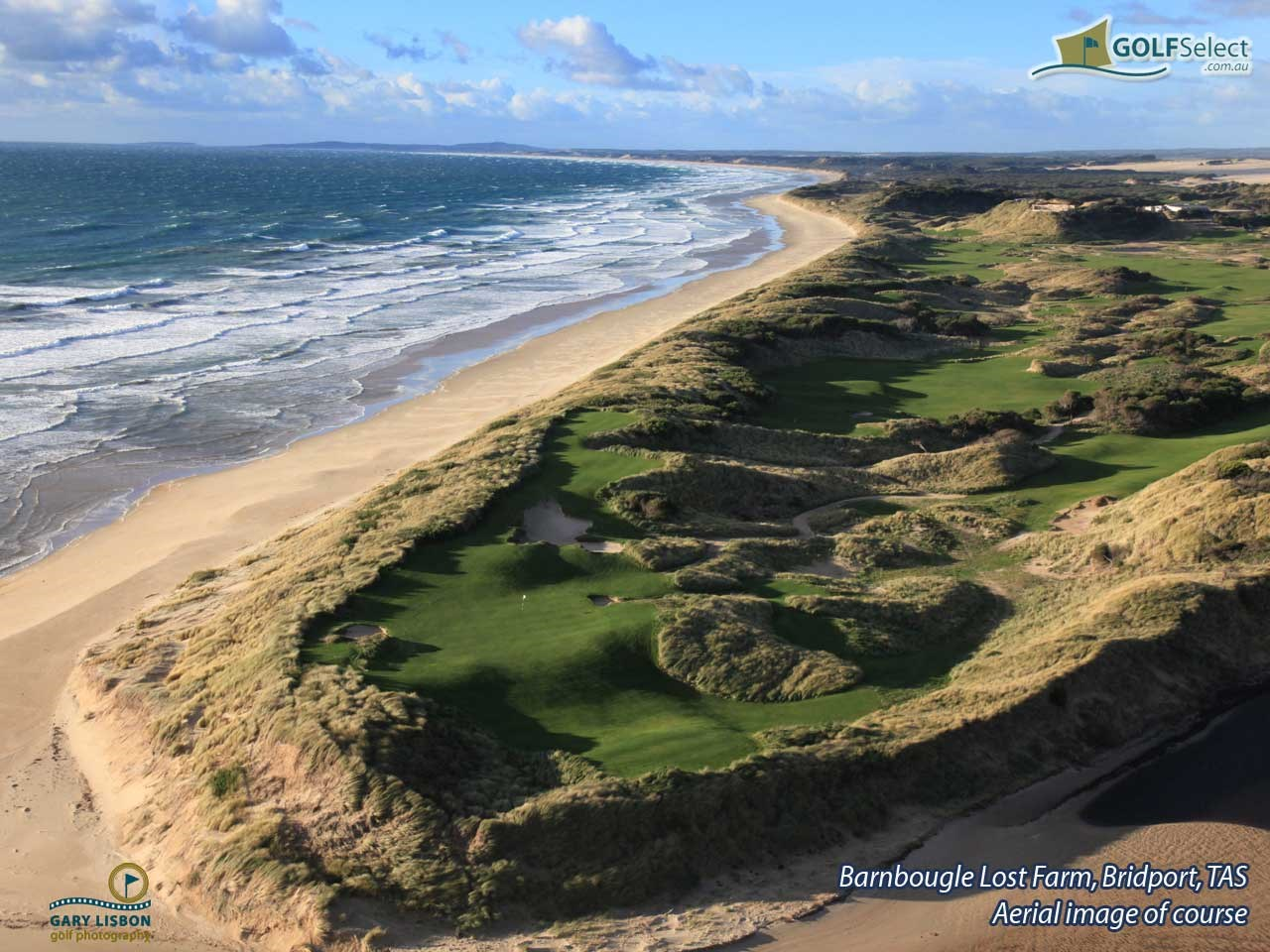 Barnbougle Lost Farm Aerial view of course