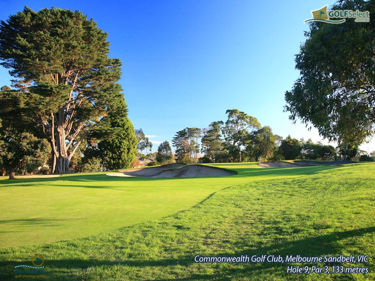 Commonwealth Golf Club Hole 9, Par 3, 133 metres