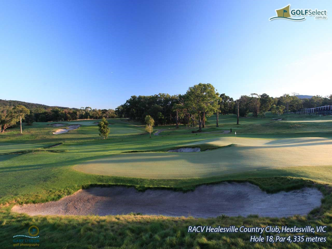 RACV Healesville Country Club Hole 18, Par 4, 335 metres