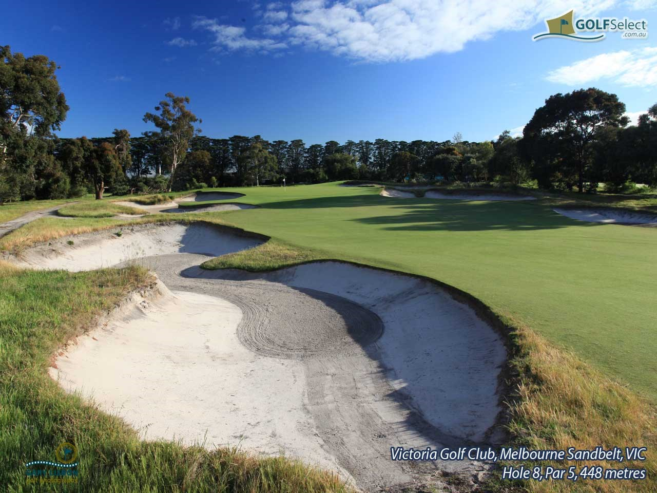 Victoria Golf Club Hole 8, Par 5, 448 metres