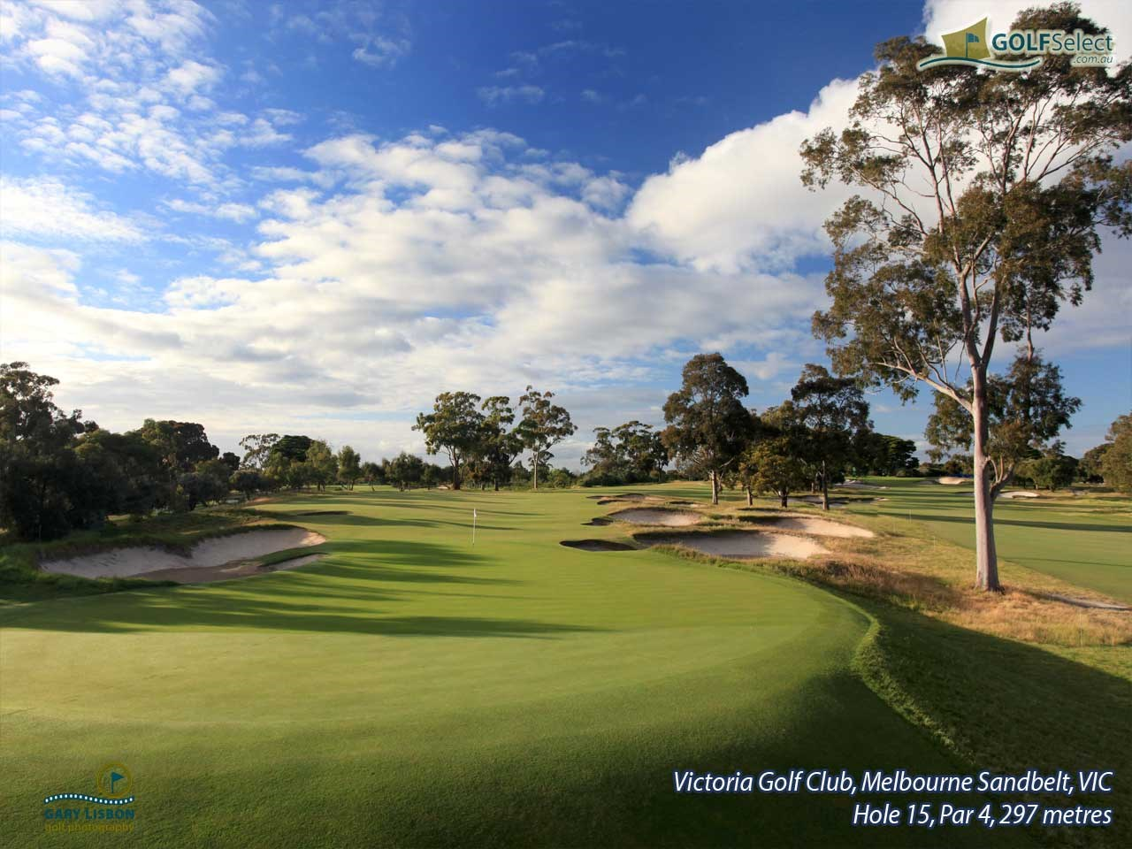 Victoria Golf Club Hole 15, Par 4, 297 metres