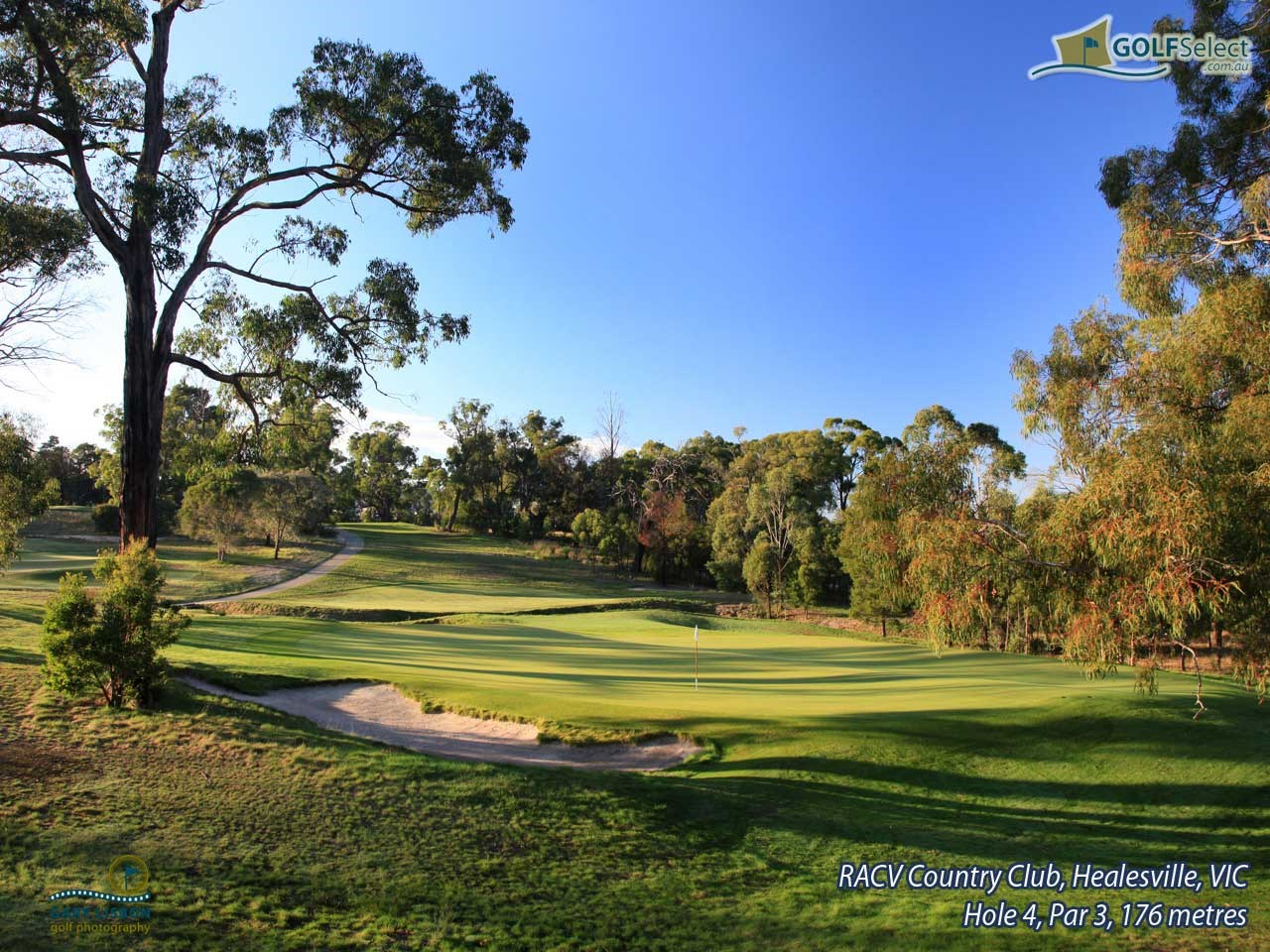 RACV Healesville Country Club Hole 4, Par 3, 176 metres