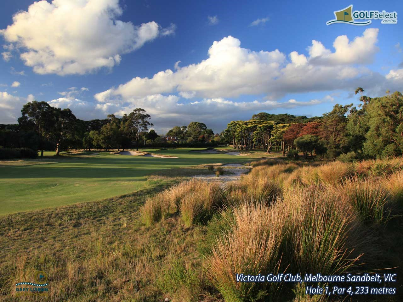 Victoria Golf Club Hole 1, Par 4, 233 metres