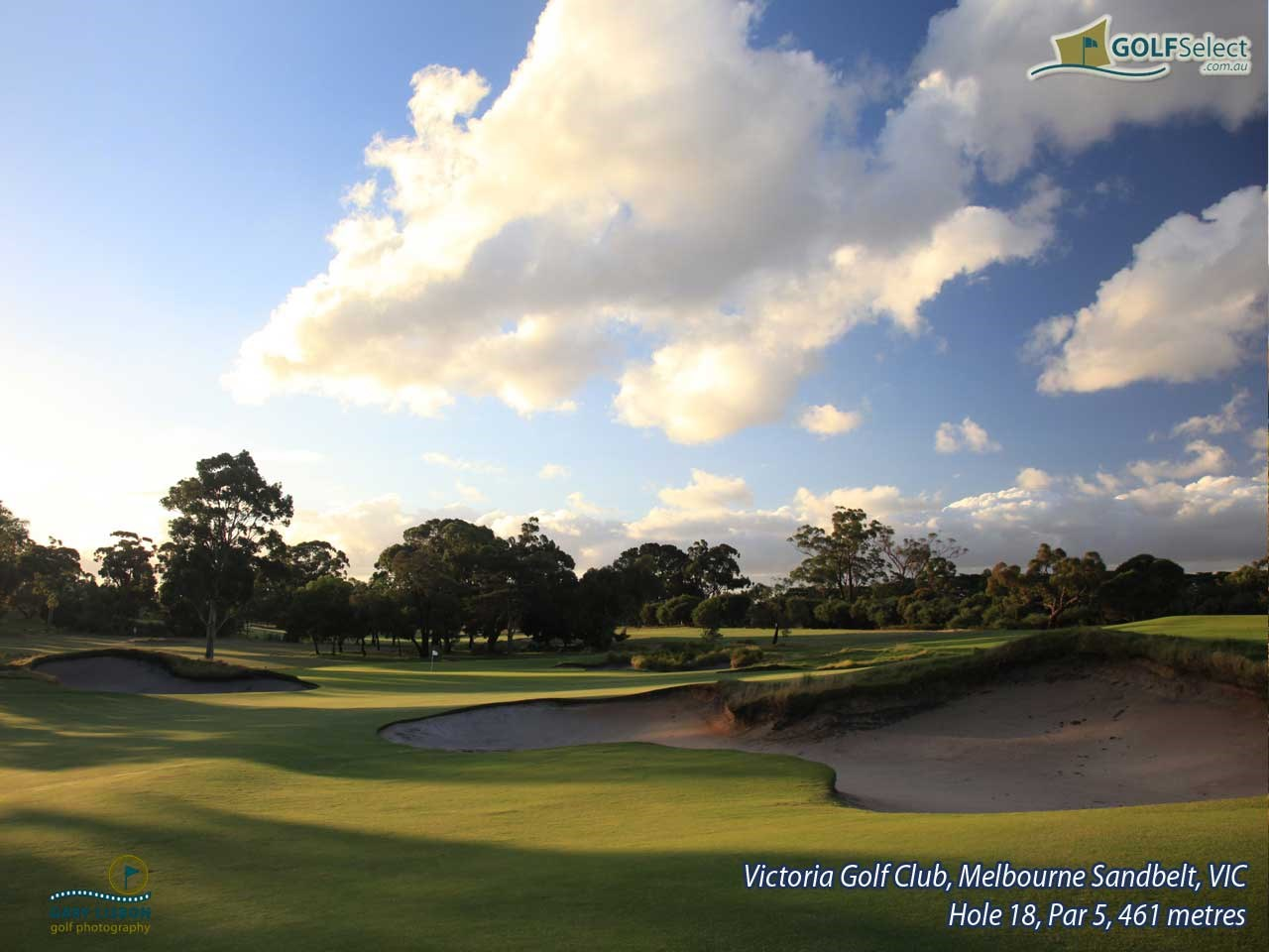 Victoria Golf Club Hole 18, Par 5, 461 metres
