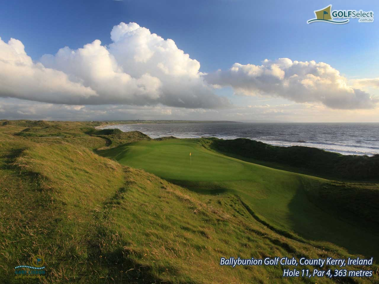 golfselect golf wallpaper ballybunion golf club old course hole 11 old par 4 363 metres. Black Bedroom Furniture Sets. Home Design Ideas